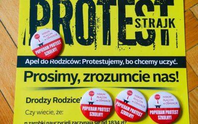Popieramy protest nauczycieli
